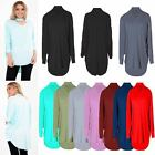 Womens Choker V Neck Oversized Baggy Long Sleeve Batwing Ladies Top Plus Size