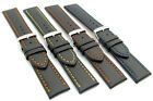 CONDOR Smooth Grain Calf Leather Watch Band Coloured Stitching 338R 18mm-24mm