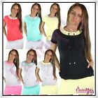 Women's Tunic Dress Summer Ladies Everyday Dress Mini One Size 8,10,12,14,16 UK