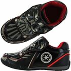 Boys SIZE 7 - 13 Black Grey STAR WARS DARTH VADER Touch Fastening Trainers NEW