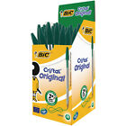 New Bic Cristal GREEN Biro Pen 1.0mm CHOOSE FROM MENU *UK SELLER* Free Postage!