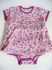 NWT Jaxxwear Infant Girl Skirted Bodysuit 100% Cotton Short Sleeve Purple