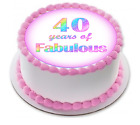 40 years fabulous cake toppers birithday 21st 30th 60th 50th 80th and 70th 40th