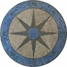 Compass Stone Mosaic Art Floor Wall Table top