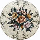 Flower Medallions Mosaic Tile Art