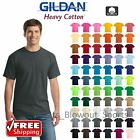 Gildan Heavy Cotton T Shirts 53oz Blank Solid Mens Short Sleeve Tee S XL 5000