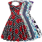 Vintage 50S 60S Rock N Roll Dresses Party Swing Pin up Dress Housewife Petticoat