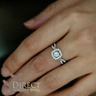 9ct REAL White GOLD 3.0 Carat Look Created Sapphire DIAMOND ENGAGEMENT Ring H-Z