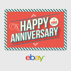 eBay Digital Gift Card - Happy 1 Year Anniversary  -  Fast email delivery