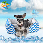 Pet Dog Bed Summer Cooling Mesh Mat Oxford Breathable Chevron Pad Nest Cushion