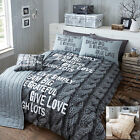 Knitted Luxury 5 pc Bedding Set/Duvet Cover Set wit Runner and Cushion Cover(86)