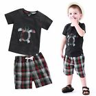 "Vaenait Baby Kids Girls Boys Clothes Short Outfit set ""Turtle Charcoal"" 12M-7T"