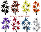 5 Heads Supreme silk single stem Open Lily in 8 Colors