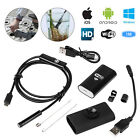 HD Waterproof WiFi Endoscope Inspection 6 LED Camera for iPhone Android PC iPad