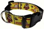 """CURIOUS GEORGE MONKEY 1"""" PERSONALIZED PET DOG COLLAR"""