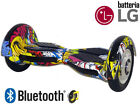 "HOVERBOARD 10"" SMART BALANCE MONOPATTINO ELETTRICO PEDANA SCOOTER BLUETOOTH"