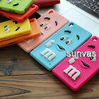 3D Cartoon M&M'S Chocolate Soft Silicone Phone Case Back Cover For Sony Xperia
