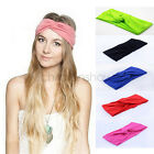 Elasticity Turban Headbands Women Sport Headwear Hairbows Girls Hair Accessories