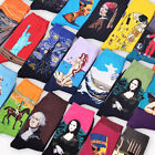 MYAFASHION Funny Mens Fashion Retro Art Oil Painting Casual Winter Warm Sock 1 P
