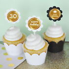 Personalized Foil Birthday Cupcake Wrappers Wraps Toppers Party Decorations