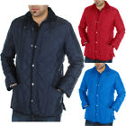 Cord Collar Quilted Padded Hunter Jacket  Mens Size