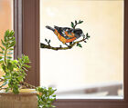 CLR:WND - Oriole Bird - Stained Glass Style Vinyl Window Decal ©YYDC CHOOSE SIZE
