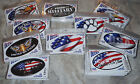 Knock Out Decals Oval Automotive & Window Decals -Choose Design  (USA Made)