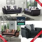 Las Vegas Sofa 3+2+1 Set Suite Couch Settee Fabric Sofas Black Grey Brown Beige