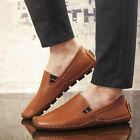 Fashion Men Driving Moccasin Loafer Casual Comfy Breathable Leather Flats Shoes