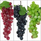 US Bunch Lifelike Artificial Fruit 60 Grapes Fake Adorn Kitchen Garden Home Yard