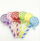 6Pcs Lolipop Party Birthday Cake Cupcake Toppers Decoration Kids Cake Favors  S2
