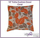 "18"" Folha Cushion Cover Coral, Duck Egg & Red"