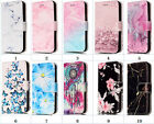 Anti-slide Marble Stand Magnet Card Slot Wallet Case For Huawei P8 P9 P10 Lite