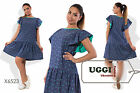 Stylish Woman Dress Cotton Short Batwing sleeve Above Knee Casual- Plus size