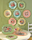 Внешний вид - Vintage Inspired Roses Birds Charger Plates Decor Scalloped Retro Serving Trays