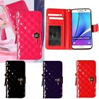 Maxi Quilting Wallet Case for Samsung Galaxy S8 S8+ Plus S7/edge S6 /edge,+ S5/4