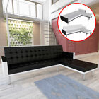 Sectional Sofa Bed Sleeper Covertible Modern Couch Chaise Lounge White/Black