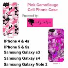 Custom Pink Camoflauge Phone Cover Case For iPhone Samsung iPod LG