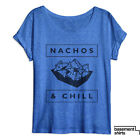 Nachos and Chill Funny Women's Food Humor Movie Night Cute Tri Blend Dolman
