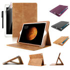 Premium 100% Genuine Leather Folio Card Case For new iPad 9.7 2017 A1822 A1823