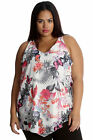 New Womens Chiffon Top Plus Size Ladies Floral Butterfly Print Tunic Nouvelle