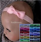Baby Headband with Bow- different sizes & colours (5cm bow)- FREE POSTAGE (gg5)