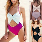 Women's One Piece Ruffled Bikini Push Up Monokini Swimsuit Bathing Suit Swimwear