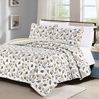 Full/Queen or King Quilt Set Coastal Anchor Seashell Coverlet Bedspread Gray Tan image