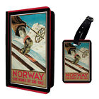 Vintage Poster Norway Luggage Tag & Passport Holder - T2630