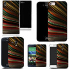 hard durable case cover for most mobile phones - multi stripey wave