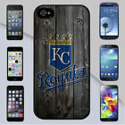 Kansas City KC Royals MLB Wood Design Fence Background iPhone & Galaxy Case