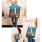 Convertible Canvas Backpack Cross Body Bag Womens College Rucksack Daypack Purse