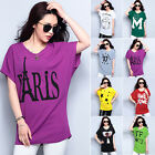 Fashion Women's Loose Batwing Sleeve Blouse Top Summer T-Shirt Plus Size NEW
