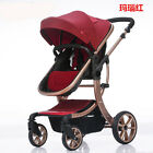 Luxury Baby Stroller 3 in 1 Carriage Infant Travel Car Foldable Pram Pushchair